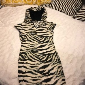 Roberto Cavalli Hoodie Dress